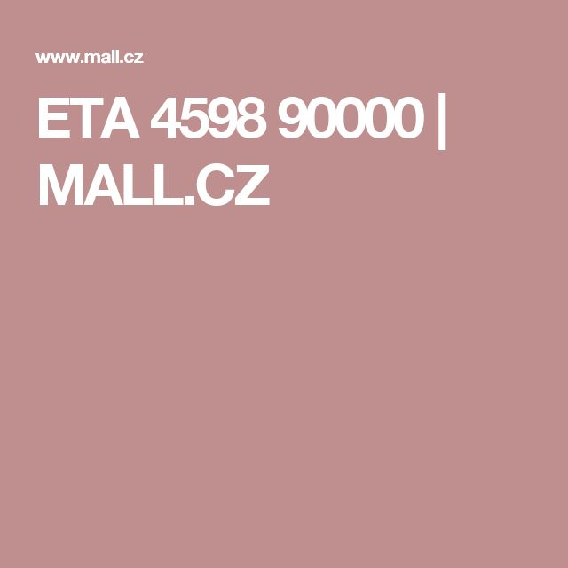 ETA   4598 90000  | MALL.CZ