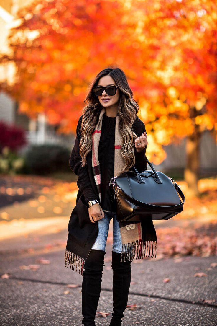Fashion Mia Online Customer Reviews: Fashion Blogger Mia Mia Mine Wearing A Burberry Scarf With