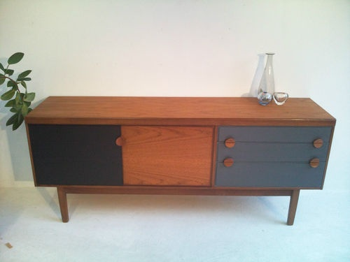 VINTAGE TEAK SIDEBOARD 1950s / 1960s DANISH INFLUENCE RETRO | eBay
