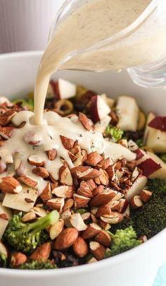 Broccoli Apple and Almond Salad Recipe