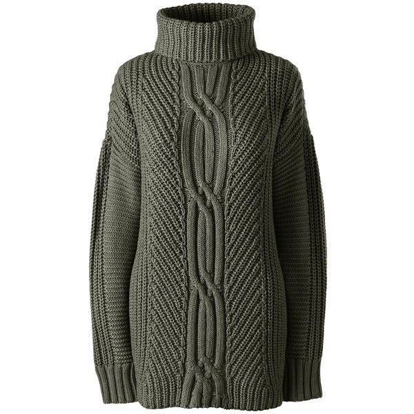 feb7549f80be Lands  End Women s Petite Cable Turtleneck Sweater - Shaker (€50 ...