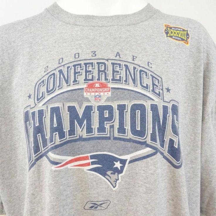 Reebok NFL Men's Size 2XL Gray XXXVIII Superbowl Champions 2003 Cotton T-shirt #Reebok #GraphicTee