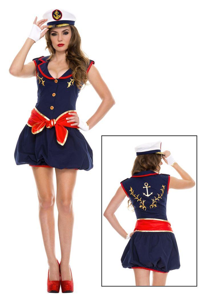 Womens Captivating Captain Costume