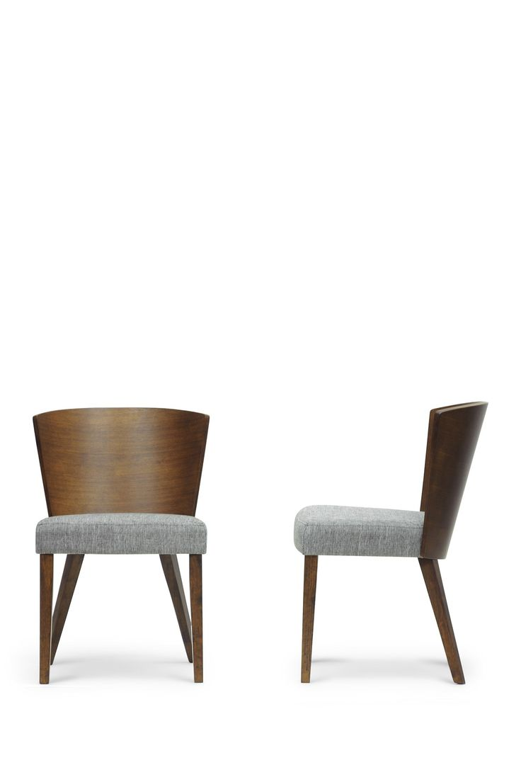 Modern wood chair with arms - Sparrow Brown Wood Modern Dining Chair Set Of 2 On Hautelook