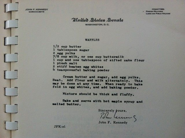JFK's Waffles, Adlai's Pie, Humphrey's Soup and 13 More Political Recipes