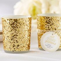 All That Glitters Gold Votive Candle Holder
