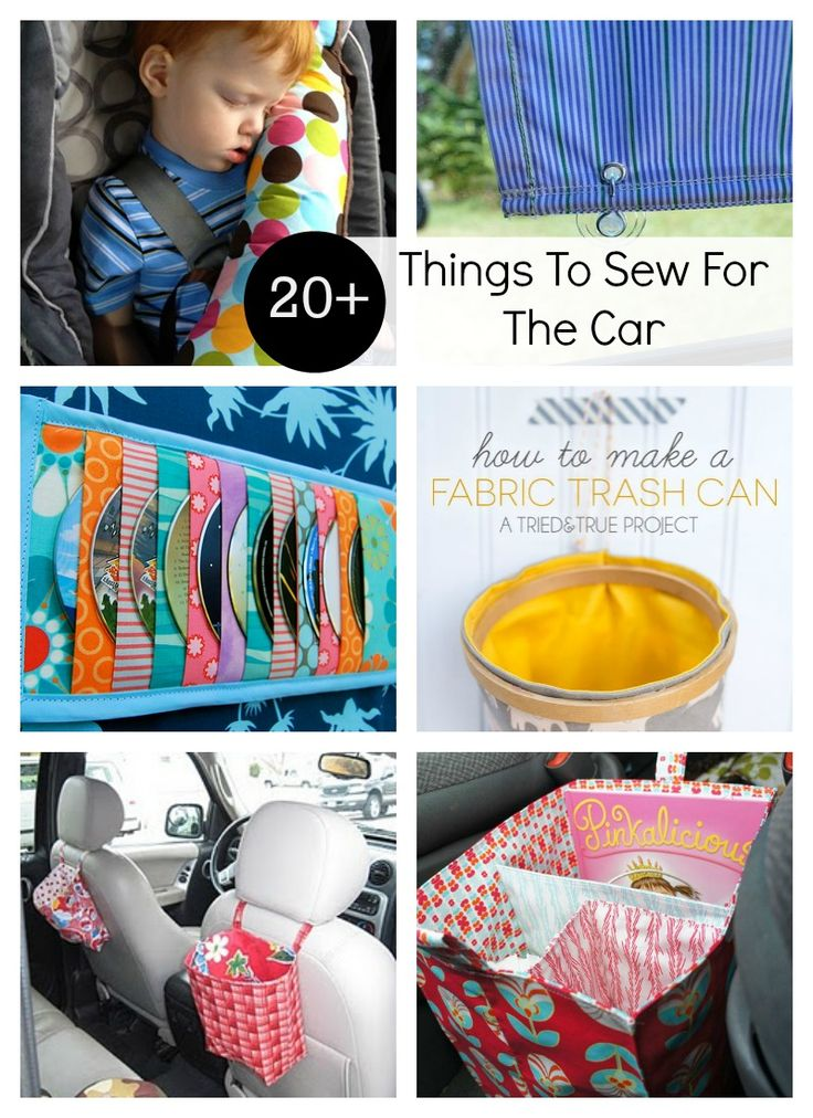 Don't miss this list of DIY things to sew for the car. 20+ projects to keep things handy, clean and organized.
