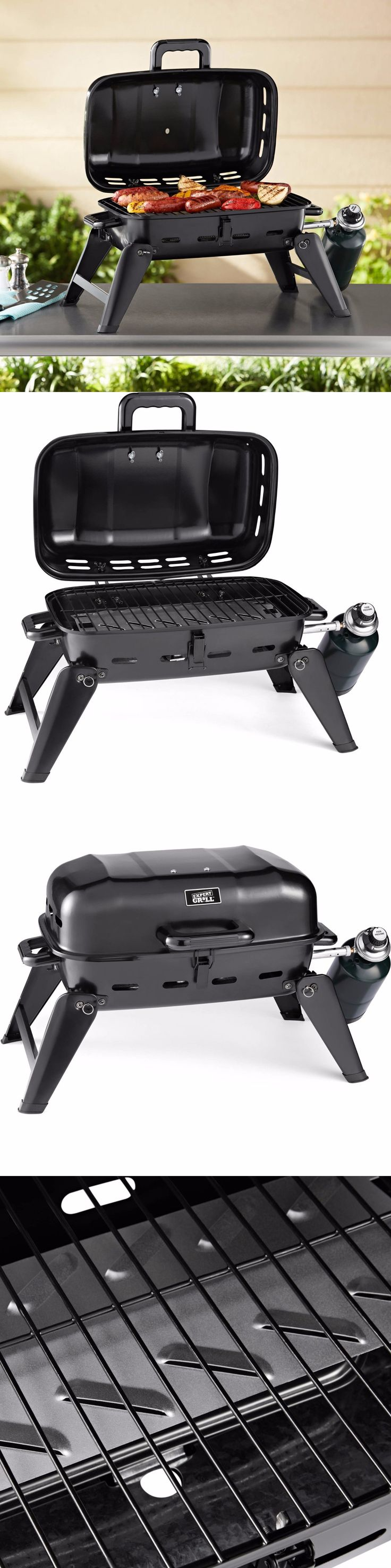 Camping BBQs and Grills 181388: Portable Bbq Grill Gas Camping Barbecue Tabletop Outdoor Propane Cooking Burner -> BUY IT NOW ONLY: $31.65 on eBay!