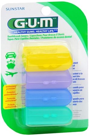 GUM Toothbrush Covers 4 Each [070942302357] $.66/pack +$1.99 shipping
