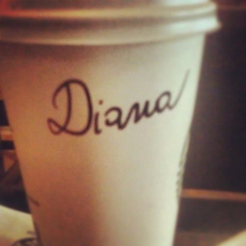 My name on a Starbucks cup!