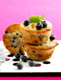 Muffins med bær (fedtfattig)