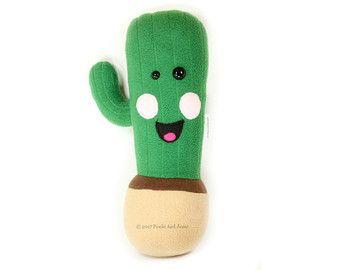 Cactus plush toy, Cacti Stuffed Toys, Cute Kawaii Cactuses, Kids Room Wild West Southwestern Themed, Cactus Plant Home Decor Soft Toy