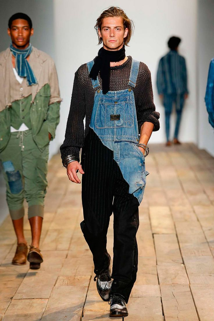 new yesterday/ reworked = use again Greg Lauren Menswear Spring/Summer 2016 #Menswear #Overalls #Fashion