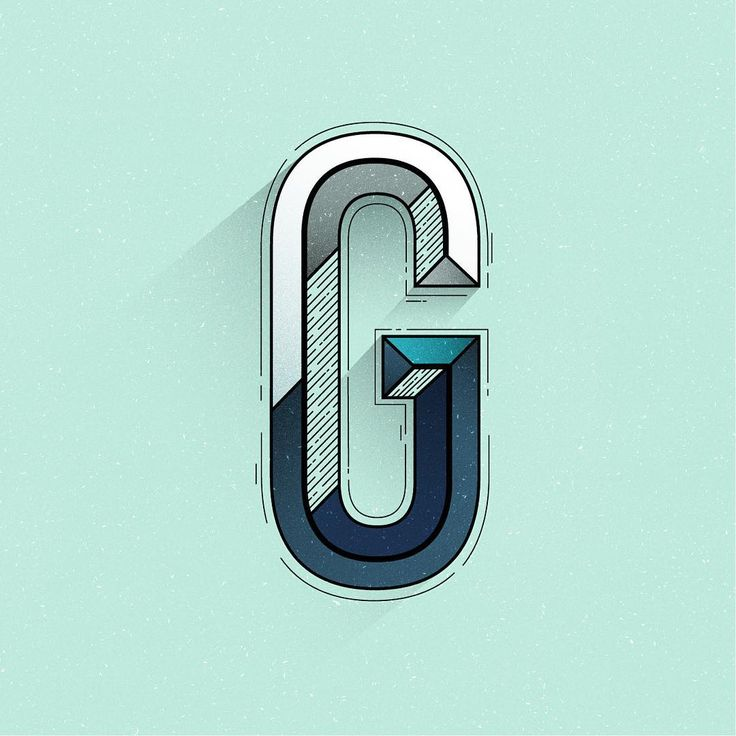 G, modern, contemporary, monogram, lettering, graphic, typography, type