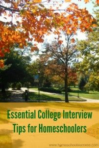 Is your homeschooler ready for college admissions interviews? Do you they know what to wear? What to say? How to prepare? Check out these tips!