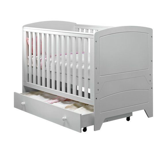 buy babystart oxford cot bed white at visit. Black Bedroom Furniture Sets. Home Design Ideas