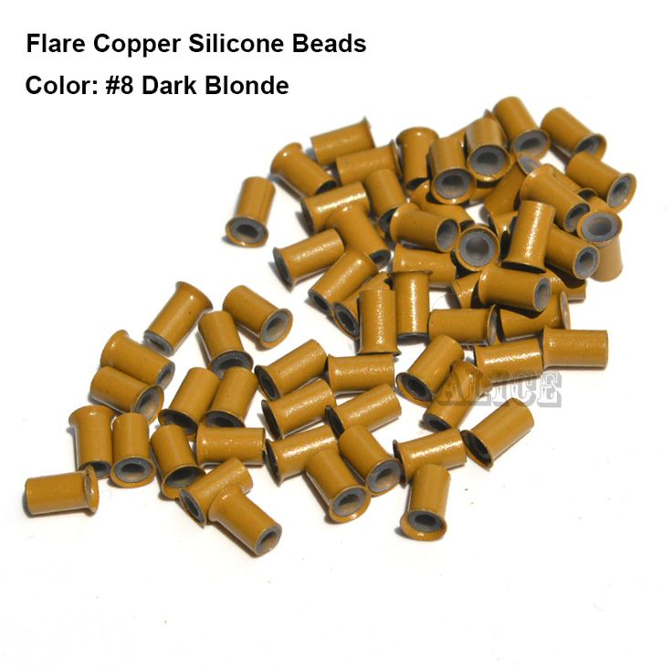 1000pcs 3.4*2.0*6.0MM Long Euro Lock Flared Flaring Silicone Micro Copper Tube Rings Beads Links Human Hair Extensions tools