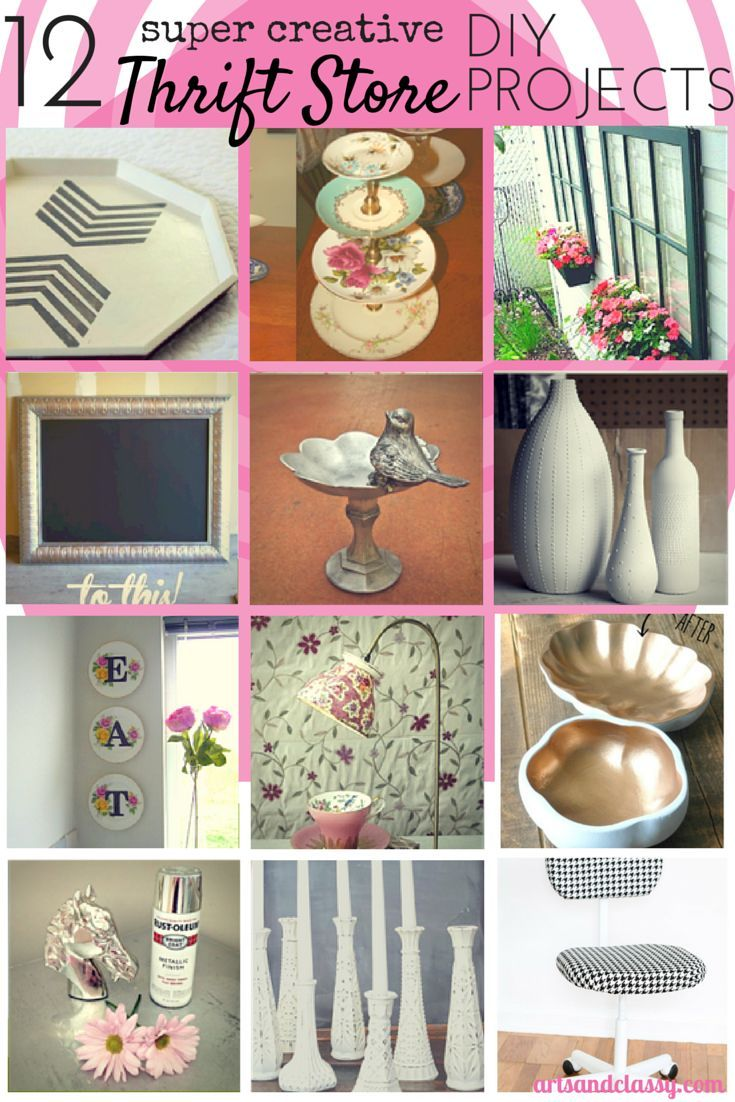 12 Creative Thrift Store DIY Art & Decor Projects