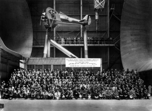 Looking Back: Aircraft Engineering Research Conference at...  Looking Back: Aircraft Engineering Research Conference at Langleys Full Scale Tunnel 1934 via NASA https://go.nasa.gov/2vd1ZoR  http://tumblr.larisia.com/post/162907422128