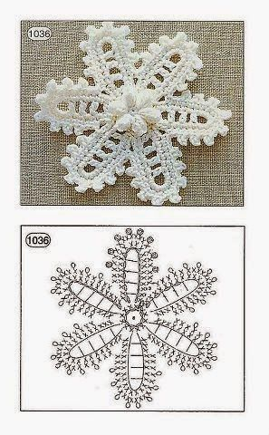 With balls of ... Tommy: Snowflake lace crochet