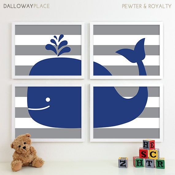 Baby Boy Nursery Art Nautical Nursery Decor by DallowayPlaceKids