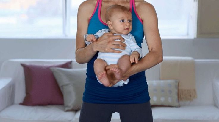 Make postpartum exercise fun for you and your baby by trying out some ballet-inspired moves and squats for your legs and butt.