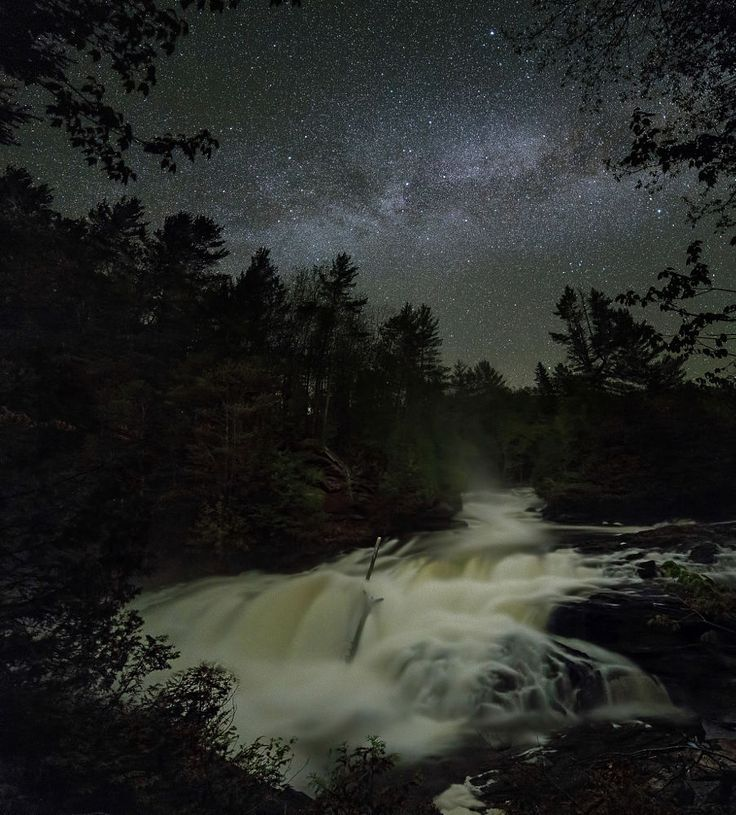 Egan Chute under the Milky Way by Mike Bons on 500px