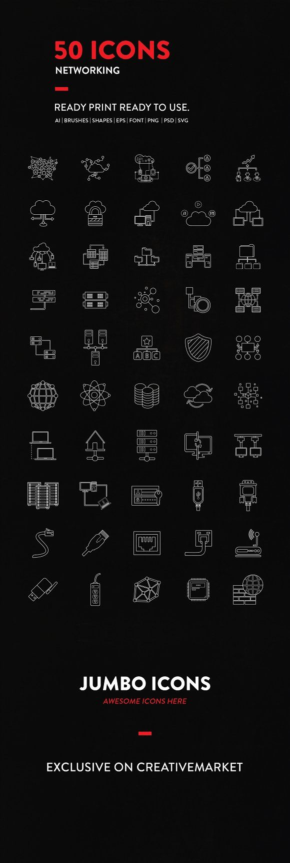 50 NETWORKING ICONS PACK only $9  DOWNLOAD Now    What will you get? -AI file properly organized in layers and groups -EPS file to use in all vector editing softwares -Adobe Photoshop PSD grouped file -Isolated PNG files in 5 sizes (32px, 64px, 128px, 256px,  512px) -Isolated SVG files  #besticons #netwrokingicons #lineart #vectorart #eps #psd #png #photoshop #svg #graphicdesigners #creativedesigners #developers #IT #adobe #userinterface