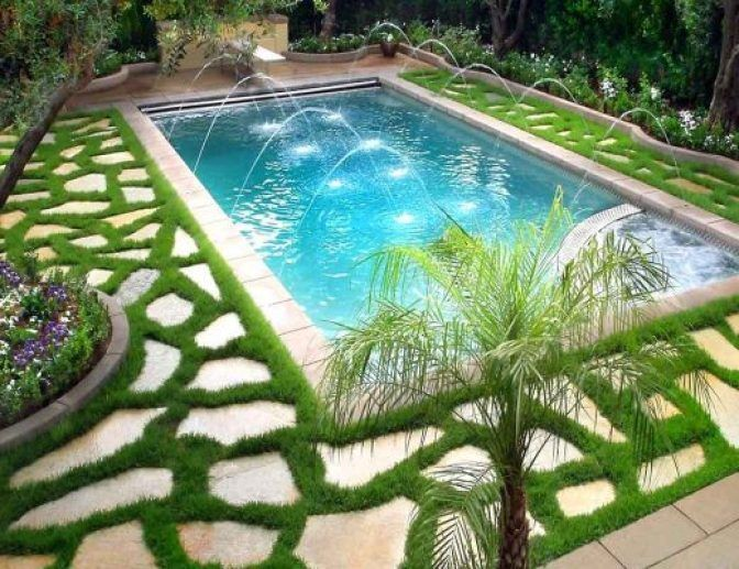 62 Amazing Fresh Frontyard And Backyard Landscaping Ideas Garden Pool Design Small Backyard Pools Swimming Pool Landscaping