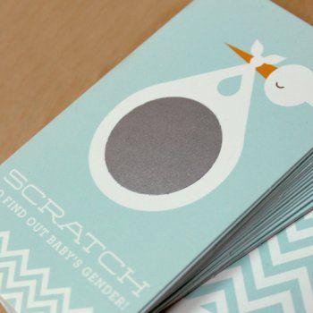 faire-part naissance / scratch off sticker