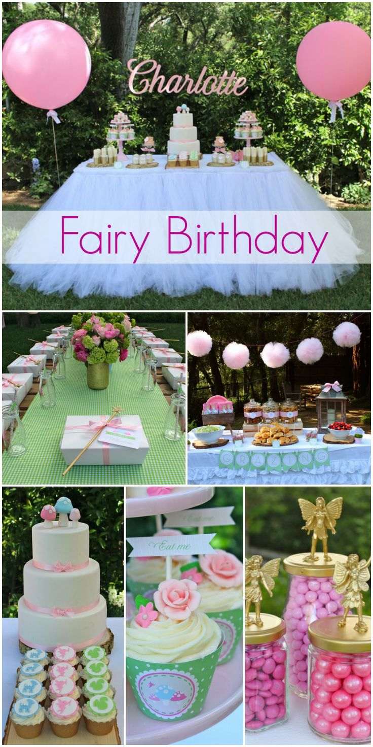Incredible fairy girl birthday with beautiful birthday cake and party decorations! See more party ideas at CatchMyParty.com. #woodland