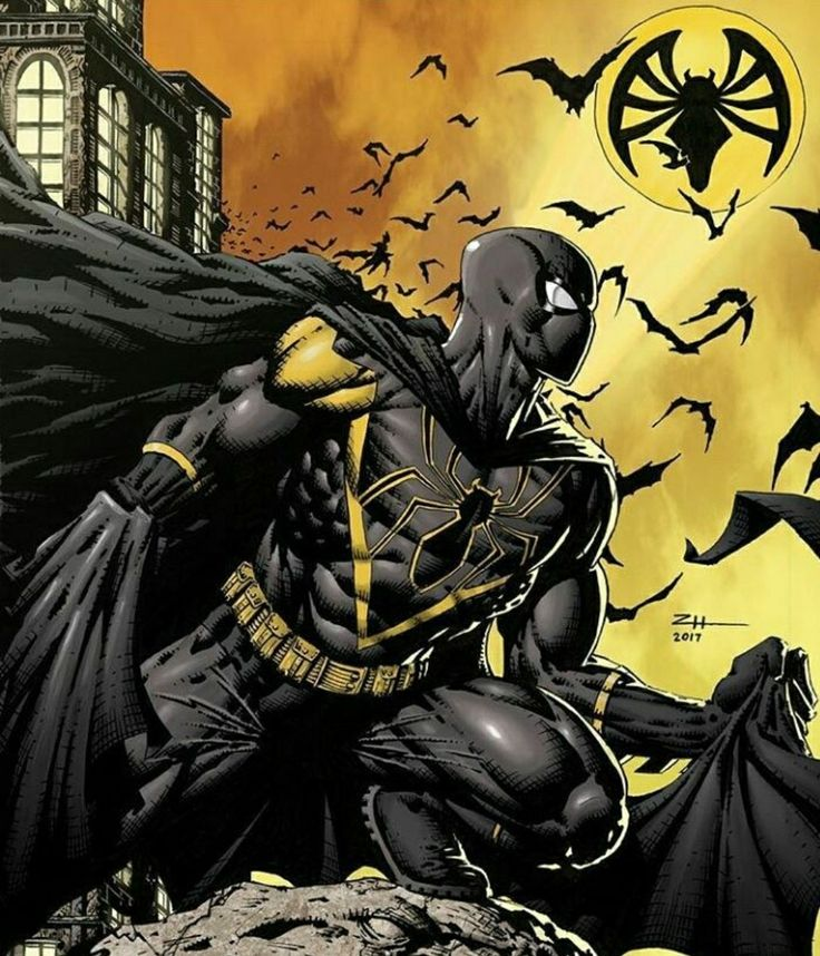 Spiderbat by ZHComicArt Spiderman and Batman mashup