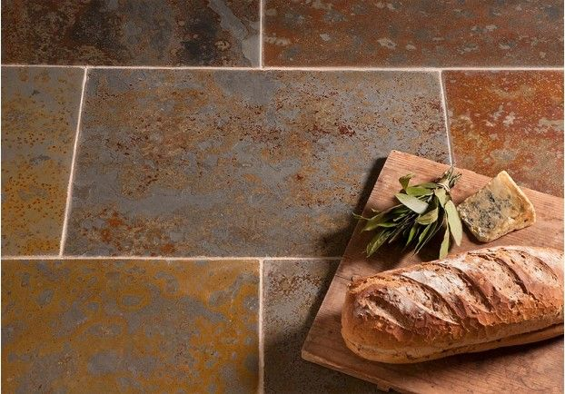 With colours varying from gold and yellows to blues and browns, the Brazilian Multicolour Slate would be an interesting feature in any property.