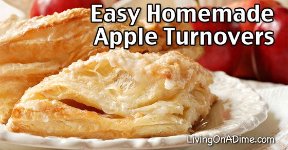 Easy Homemade Apple Turnover Recipe - This easy apple turnover recipe can be used to make apple turnovers as well as peach, cherry, blueberry and more! You'll be surprised how easy it is!
