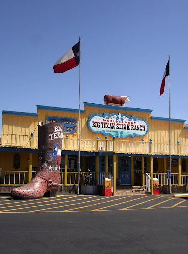 Big Texan - Amarillo, Texas (free 72 oz. steak if you can eat it all in an hour or less... disgusting)