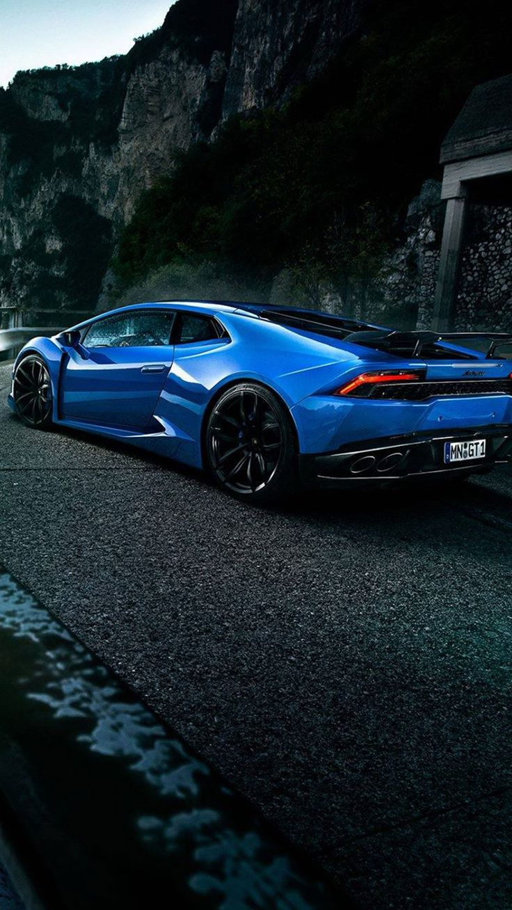 Blue Lamborghini Car Wallpaper #Iphone #android #blue #lamborghini #car # Wallpaper