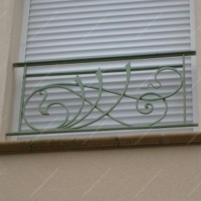 Appuis de fenêtre en fer forgé, style moderne, modèle nouille 1                                                                                                                                                                                 Plus