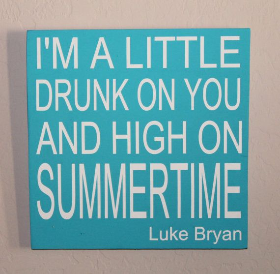 Country Music Lyrics Sign Drunk on you High on by HighStreetSignCo, $25.00