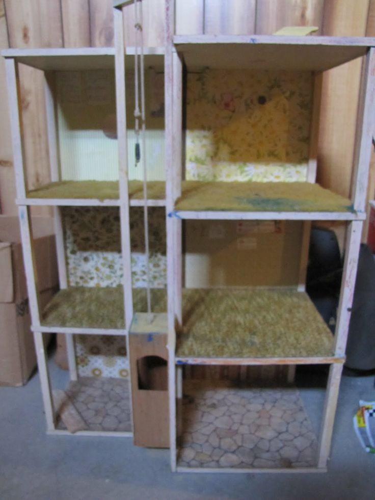 DIY Barbie House | This is my home-made Barbie Town-House (now stored in my basement).