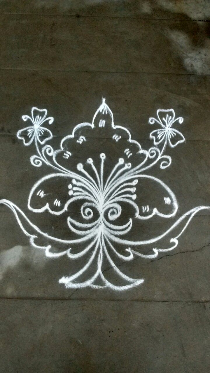 how to draw simple rangoli