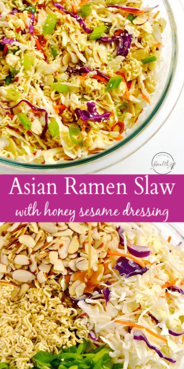 Asian Ramen Slaw – Easy, 10 Minute