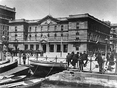 Customs House at Circular Quay,Sydney in 1887.A♥W