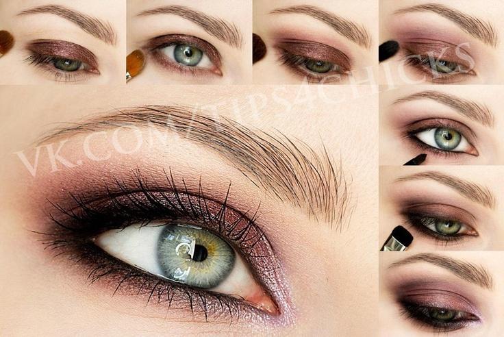 Pink and bronze makeup tuto