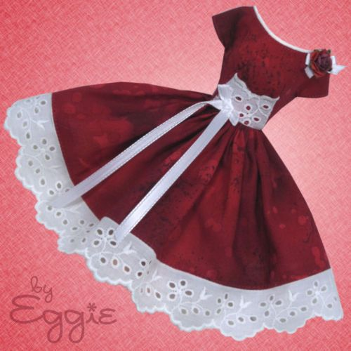 Deep Red Romance - Vintage Barbie Doll Dress Reproduction Repro Barbie Clothes