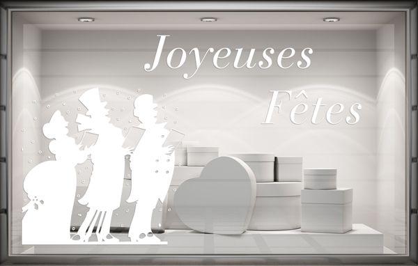 Sticker vitrine Chanteurs de Noël