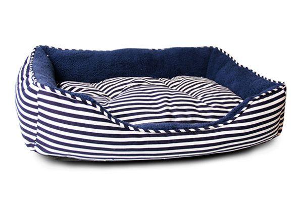 Medium Sailar Blue Stripe Dog Bed