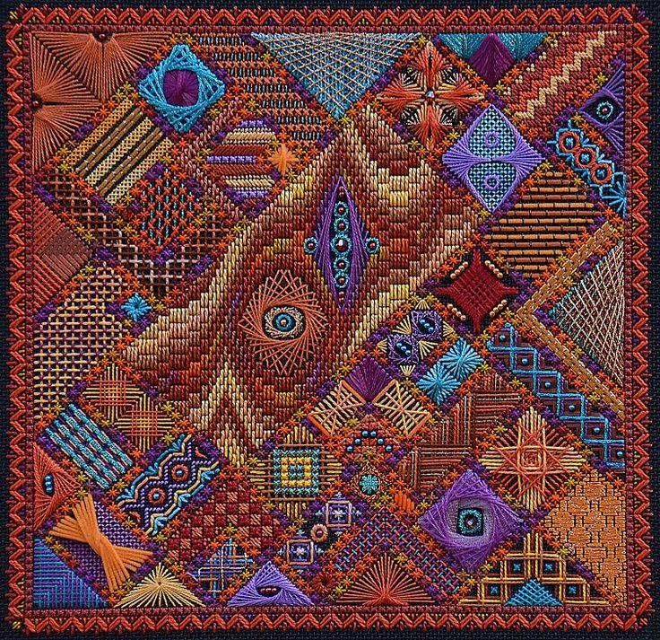 autumnkal, needlepoint by Lorene Salt