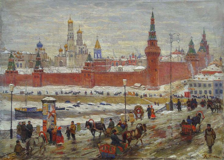 Konstantin Yuon (1875-1958). Old Moscow.