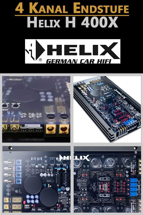 Helix H 400X 4-Kanal Verstärker mit integrierter aktiver Frequenzweiche