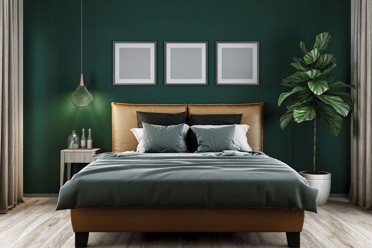 Elegant Mid Century Modern Bedroom Design Ideas 8 In 2020 Green Bedroom Walls Green Master Bedroom Bedroom Interior